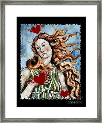 Venus On The Wing Framed Print by Carrie Joy Byrnes