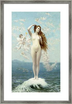 Venus Rising The Star Framed Print by Jean Leon Gerome