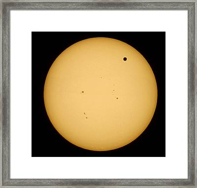 Framed Print featuring the photograph Venus Transit by Jason Politte