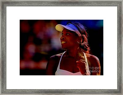 Venus Williams Framed Print by Marvin Blaine