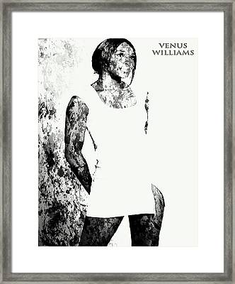 Venus Williams Paint Splatter 2c Framed Print by Brian Reaves