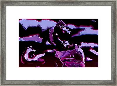 Venus Williams Queen V Framed Print by Brian Reaves
