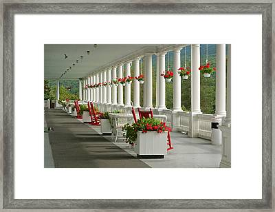 Veranda Mt Washington Hotel Framed Print by Gail Maloney
