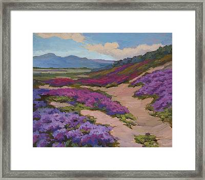 Verbena Harmony In Purple Framed Print by Diane McClary