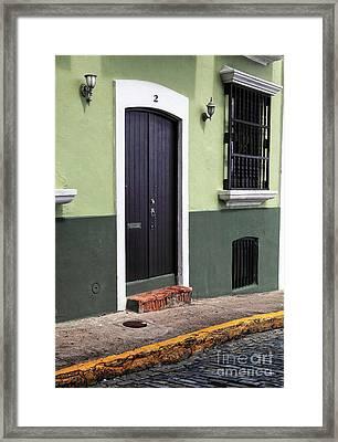 Verde En San Juan Framed Print by John Rizzuto