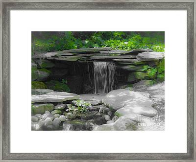 Verde Falls Framed Print