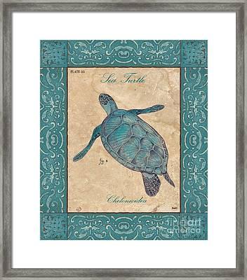 Verde Mare 4 Framed Print by Debbie DeWitt