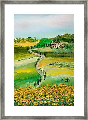 Verde Sentiero Framed Print by Loredana Messina