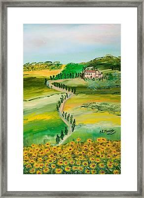 Verde Sentiero Framed Print