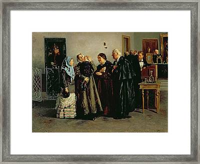 Verdict, Not Guilty, 1882 Oil On Canvas Framed Print by Vladimir Egorovic Makovsky