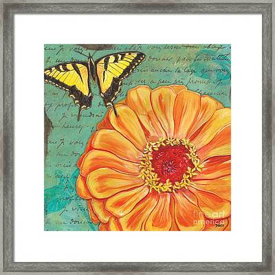 Verdigris Floral 1 Framed Print by Debbie DeWitt