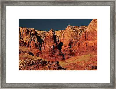 Vermilion Cliffs In The Morning, Lee's Framed Print by Michel Hersen