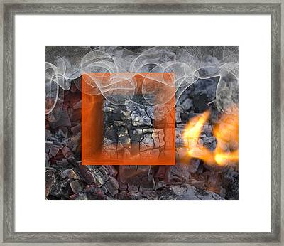 Vermilion On Fire Framed Print by Clair Dunn