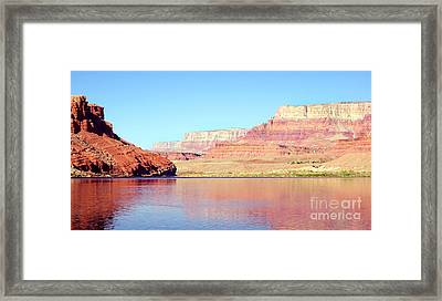 Vermillion Cliffs And Colorado River In Morning Light Framed Print by Douglas Taylor