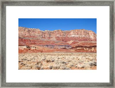 Vermillion Cliffs Colors Framed Print by Bob and Nancy Kendrick