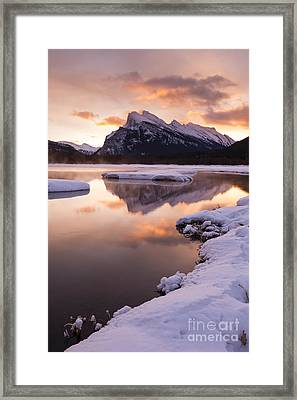 Vermillion Lakes In Banff National Park Framed Print by Ginevre Smith