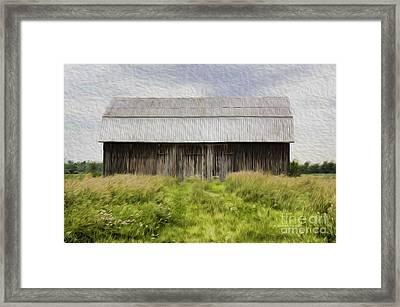Vermont Barn In Oil Framed Print by Deborah Benoit