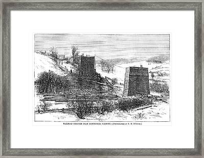 Vermont Bridge Collapse Framed Print by Granger
