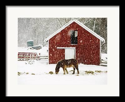 New England Snow Scene Photographs Framed Prints