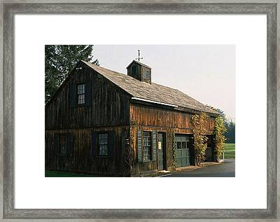 Framed Print featuring the photograph Vermont Cottage by Ellen O'Reilly