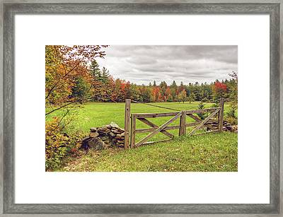 Vermont Countryside Framed Print