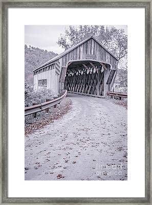 Vermont Covered Bridge Framed Print by Edward Fielding