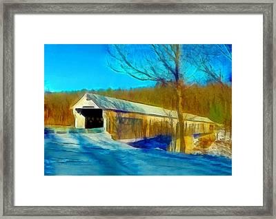 Vermont Covered Bridge Framed Print
