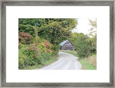 Vermont Dirt Road Framed Print