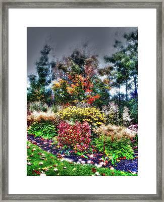 Vermont Fall Garden Framed Print by John Nielsen
