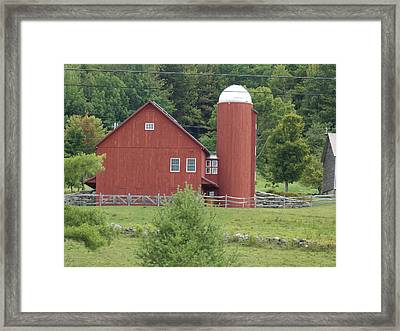 Vermont Farm Framed Print by Catherine Gagne