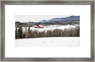 Vermont Farm In Winter Framed Print