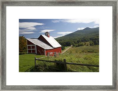 Vermont Farm Framed Print by Jim  Wallace