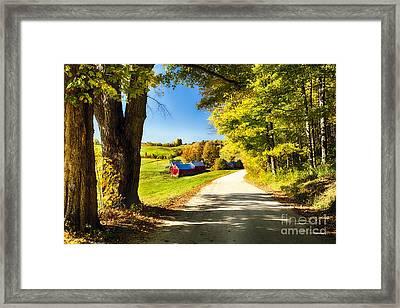 Vermont Farm Scenic I Framed Print