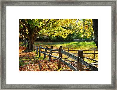 Vermont Fence Framed Print by Jim  Calarese