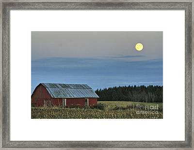 Vermont Full Moon Framed Print by Deborah Benoit