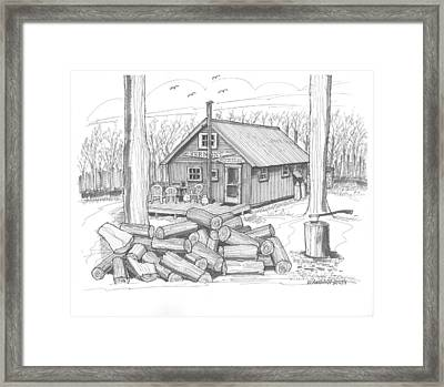 Vermont Hunter Lodge Framed Print