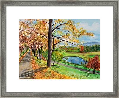 Vermont In The Fall Framed Print