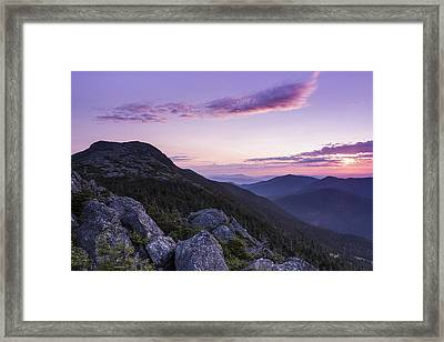 Vermont Mount Mansfield Sunrise Green Mountains Framed Print by Andy Gimino