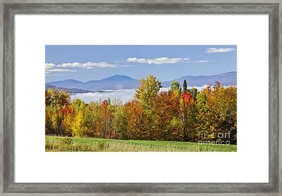 Vermont October Morning Framed Print