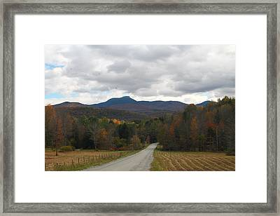 Framed Print featuring the photograph Vermont Road by Alicia Knust