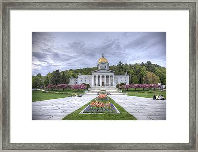 Vermont State House Framed Print
