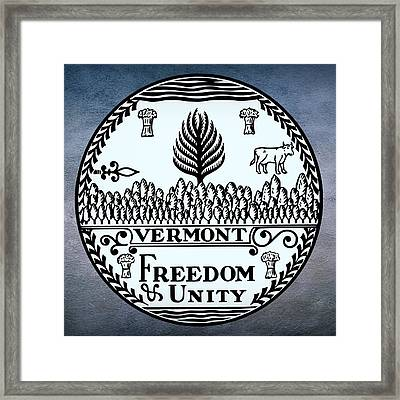 Vermont State Seal Framed Print