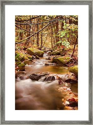 Framed Print featuring the photograph Vermont Stream by Jeff Folger