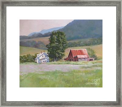 Vermont  Summer Farm Framed Print by Karol Wyckoff