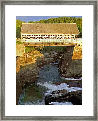 Vermont Swimming Hole Framed Print