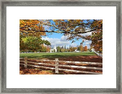 Vermont Vista Framed Print by William Alexander