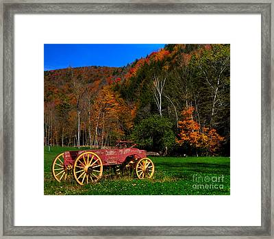 Vermont Wagon Framed Print