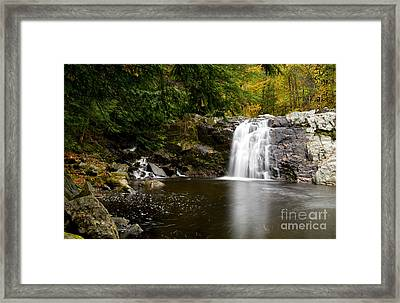 Vermont Waterfall Framed Print by Bill Bachmann