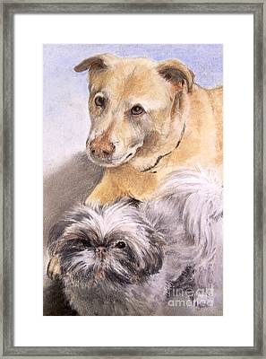 Vern And Molly Framed Print by Mary Lynne Powers