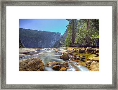 Vernal Falls Overlook Framed Print by Mike Lee